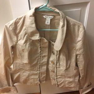 WHBM khaki blazer/jacket size 8